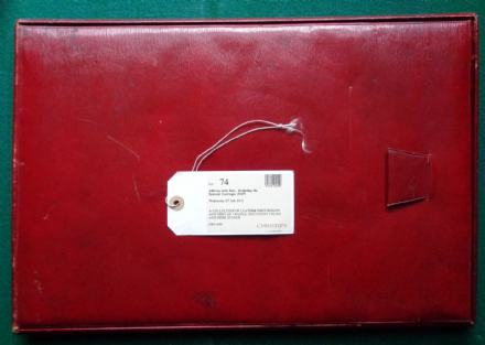 Antique Red Leather Victorian Blotter/Folder from Earl Spencer Family circa 1890